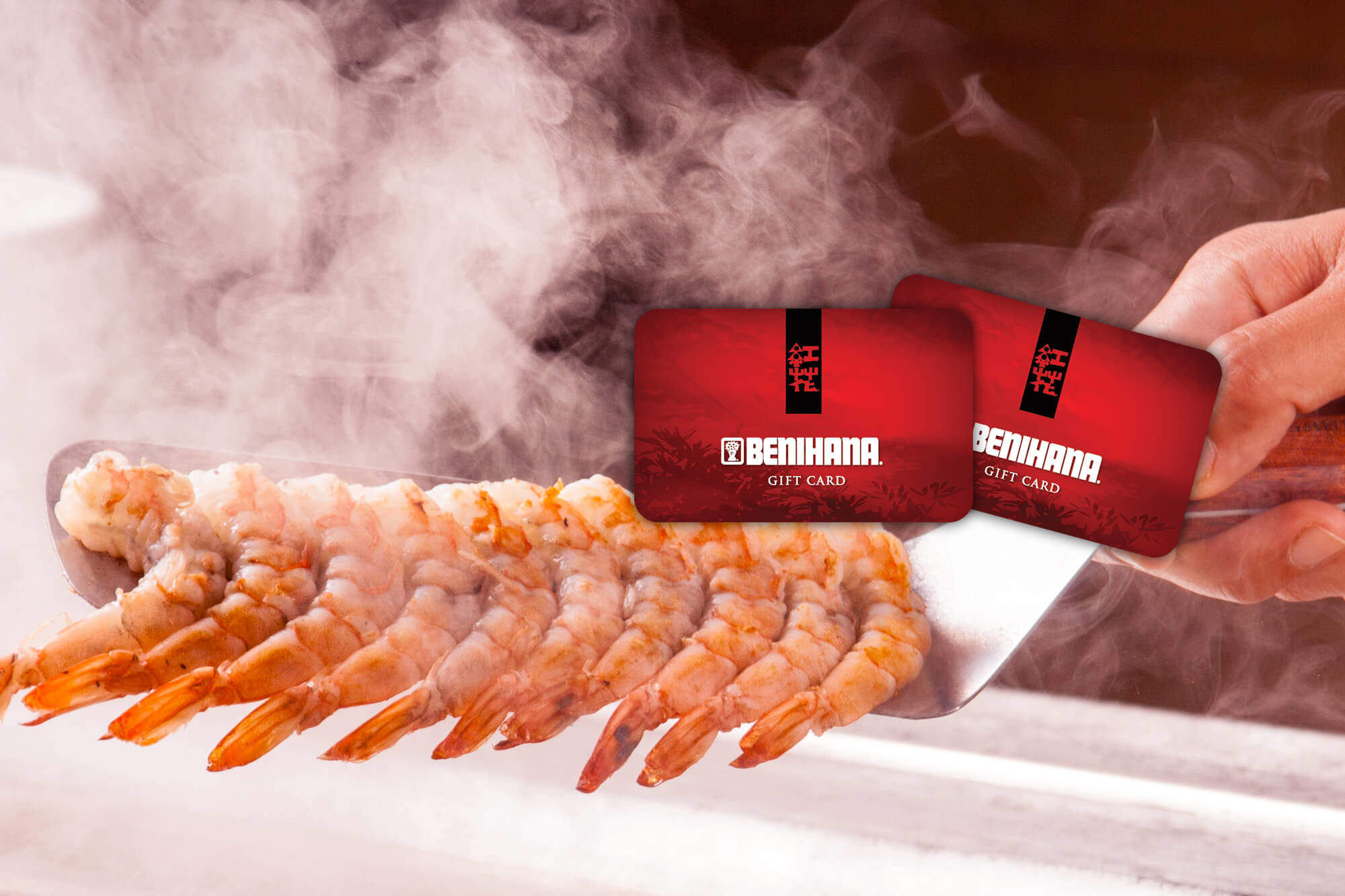 Shrimpcookinggiftcard image benihana welcome shrimp cooking benihana flower logo bookmarktalkfo Choice Image