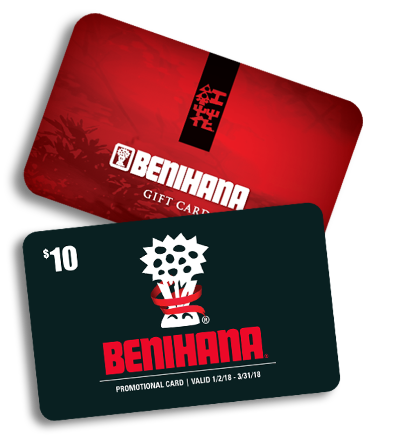 BENIHANA HOLIDAY GIFT CARDS 2017