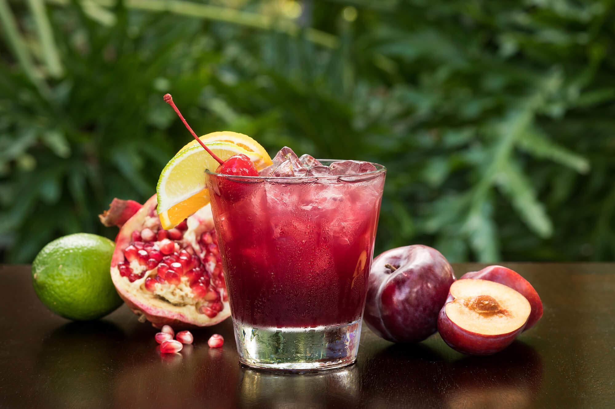 Red Plum Sake Sangria